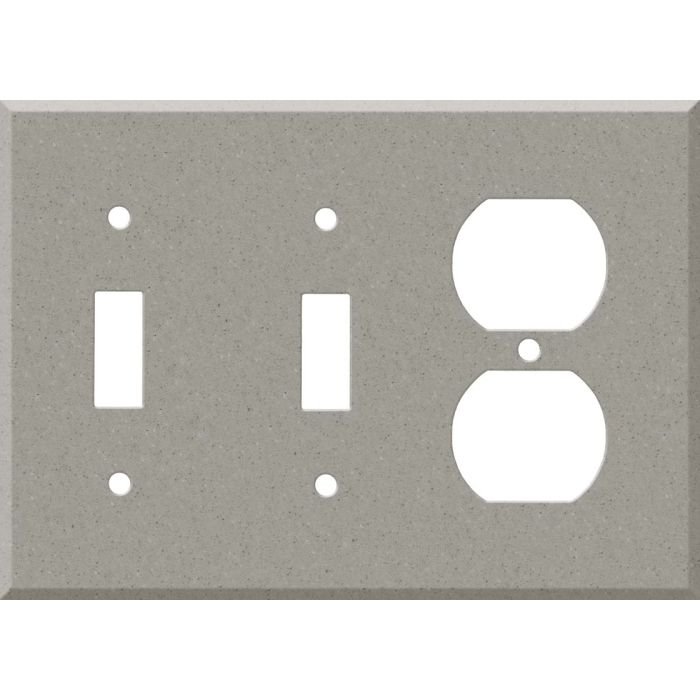Corian Dove Double 2 Toggle / Outlet Combination Wall Plates