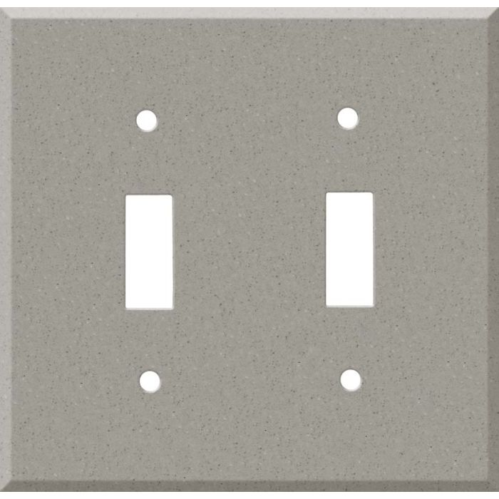 Corian Dove Double 2 Toggle Switch Plate Covers