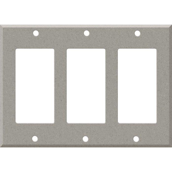 Corian Dove Triple 3 Rocker GFCI Decora Light Switch Covers