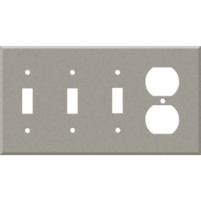 Corian Dove Combination Triple 3 Toggle / Outlet Wall Plate Covers