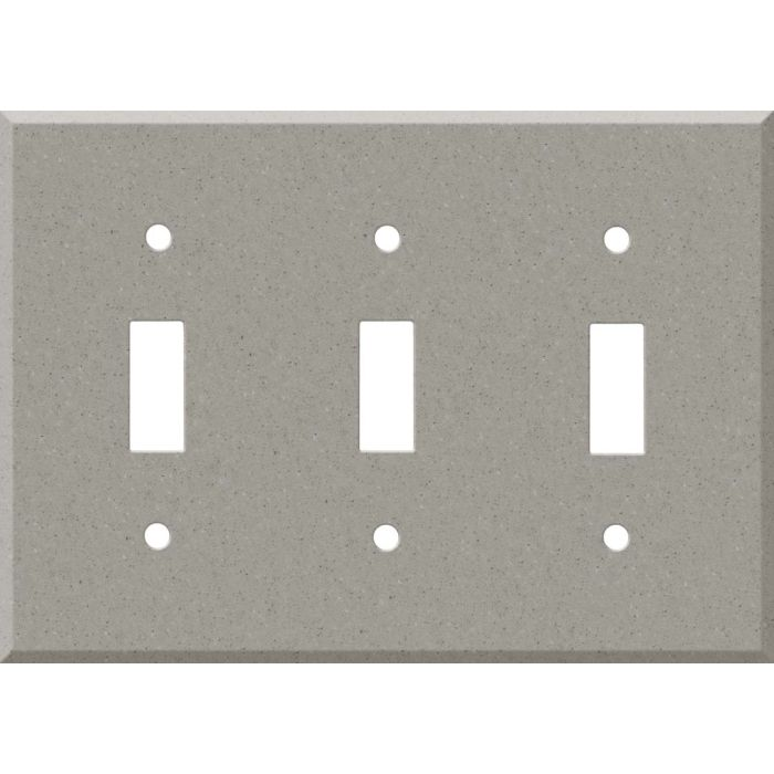 Corian Dove Triple 3 Toggle Light Switch Covers