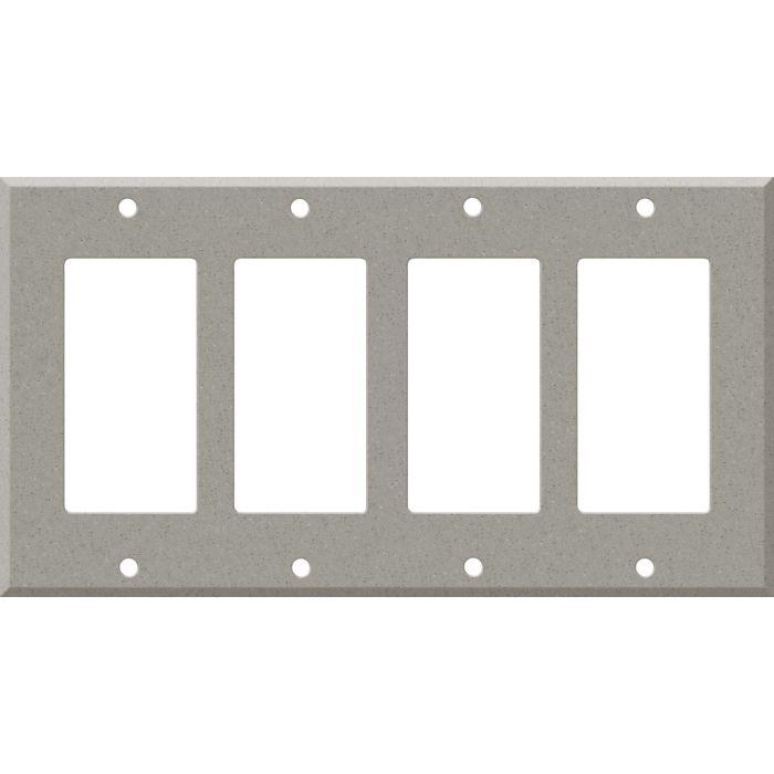 Corian Dove 4 Rocker GFCI Decorator Switch Plates