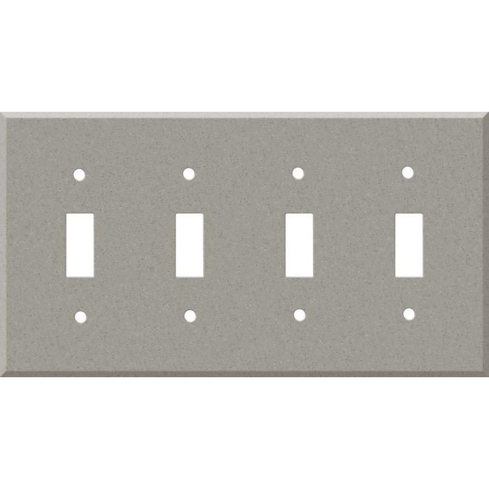 Corian Dove Quad 4 Toggle Light Switch Covers