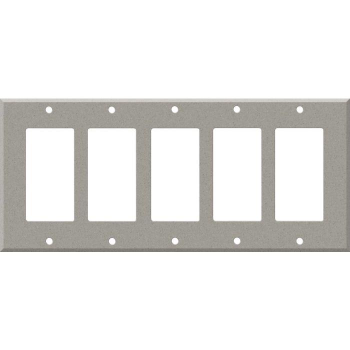 Corian Dove 5 GFCI Rocker Decora Switch Covers