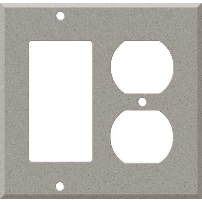 Corian Dove Combination GFCI Rocker / Duplex Outlet Wall Plates