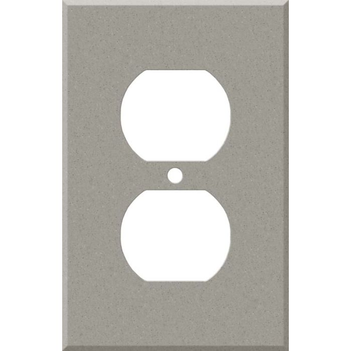 Corian Dove 1 Gang Duplex Outlet Cover Wall Plate