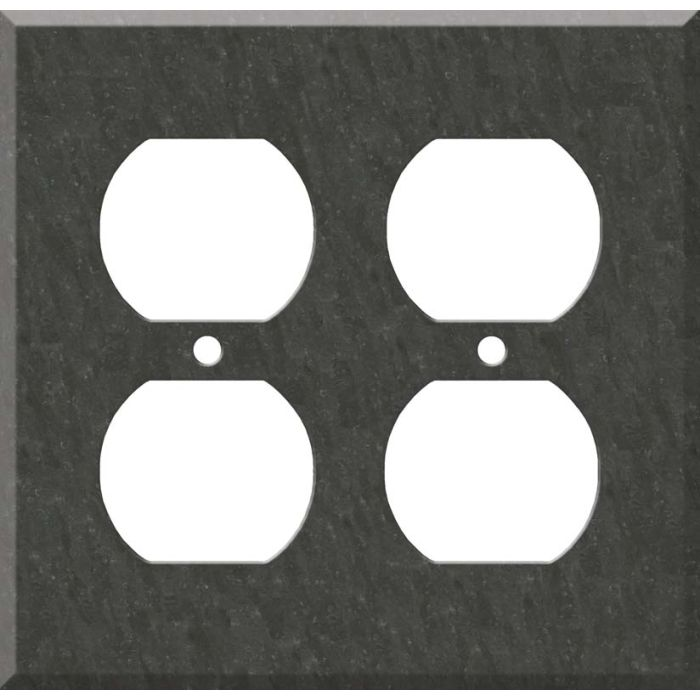 Corian Earth 2 Gang Duplex Outlet Wall Plate Cover
