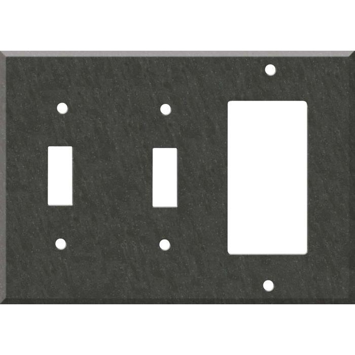 Corian Earth Double 2 Toggle / 1 GFCI Rocker Combo Switchplates