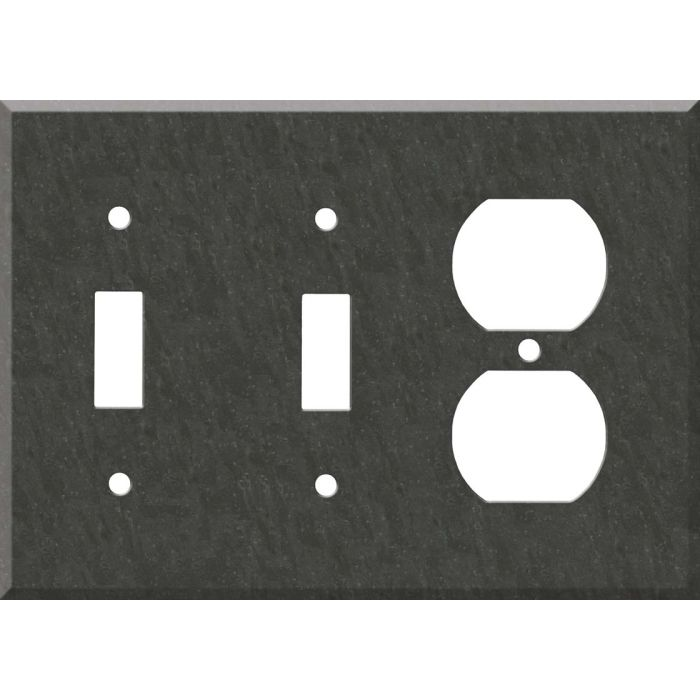 Corian Earth Double 2 Toggle / Outlet Combination Wall Plates