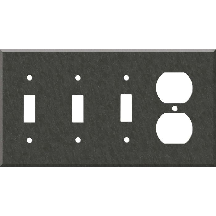 Corian Earth Combination Triple 3 Toggle / Outlet Wall Plate Covers