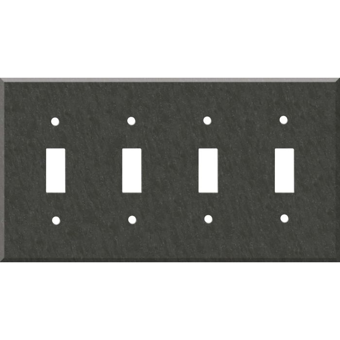 Corian Earth Quad 4 Toggle Light Switch Covers