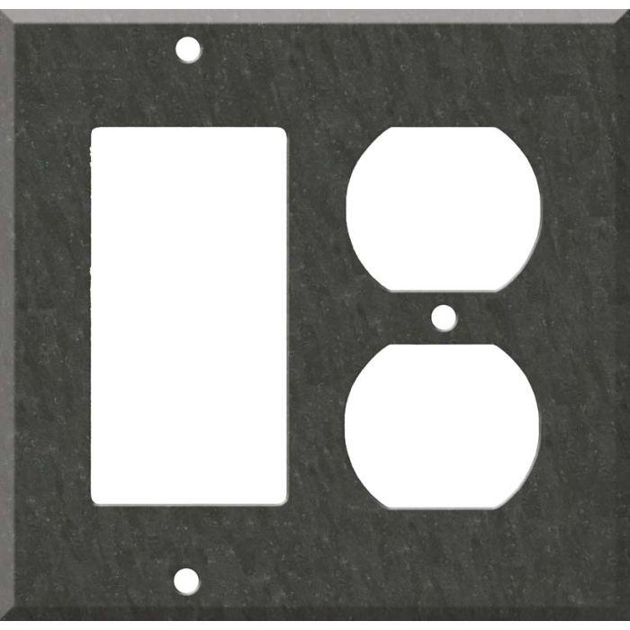 Corian Earth Combination GFCI Rocker / Duplex Outlet Wall Plates