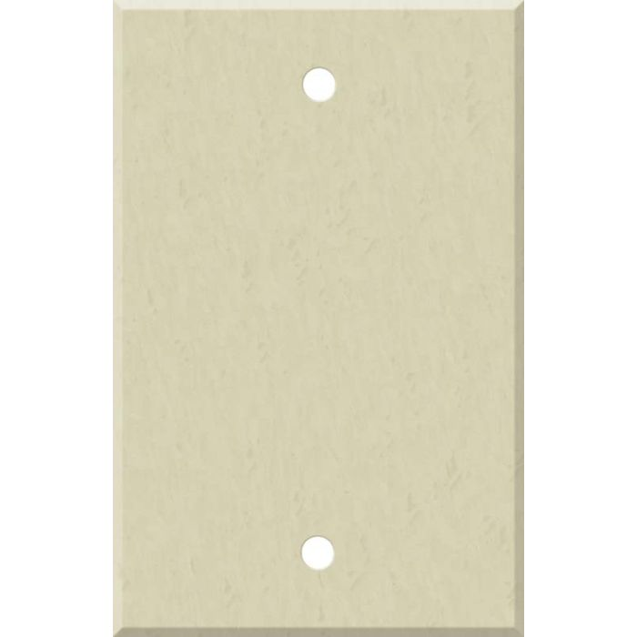 Corian Ecru Blank Wall Plate Cover