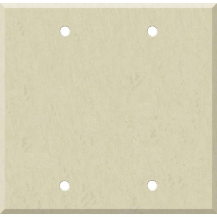 Corian Ecru Double Blank Wallplate Covers