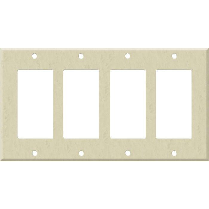 Corian Ecru 4 Rocker GFCI Decorator Switch Plates