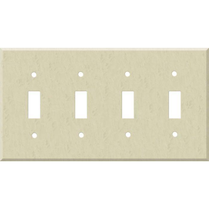 Corian Ecru Quad 4 Toggle Light Switch Covers