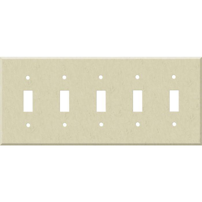 Corian Ecru 5 Toggle Wall Switch Plates
