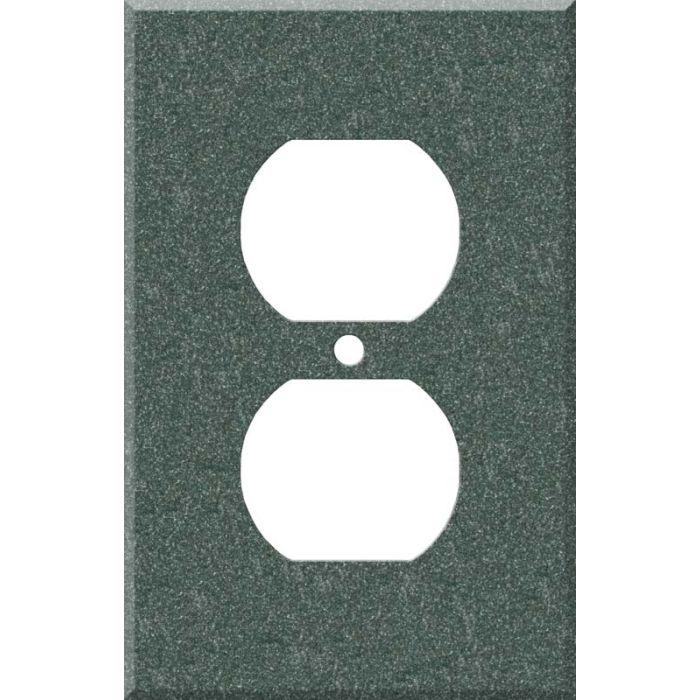 Corian Evergreen 1 - Gang Duplex Outlet Cover Wall Plate