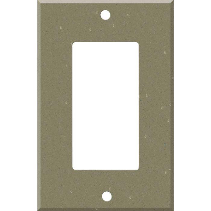 Corian Fawn 1-Gang GFCI Decorator Rocker Switch Plate Cover