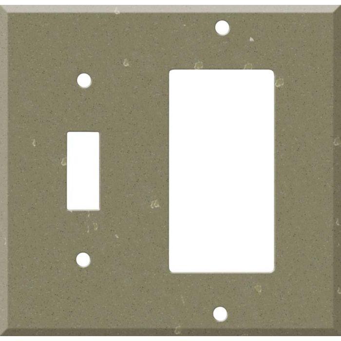 Corian Fawn 1 Toggle Wall Switch Plate - GFI Rocker Cover Combo