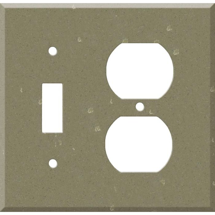 Corian Fawn 1 Toggle Wall Switch Plate - Outlet Cover Combination