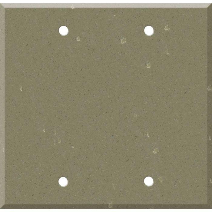 Corian Fawn 2 Double Blank Wall Plates