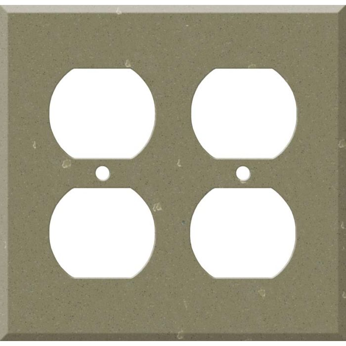 Corian Fawn 2 Gang Duplex Outlet Wall Plate Cover