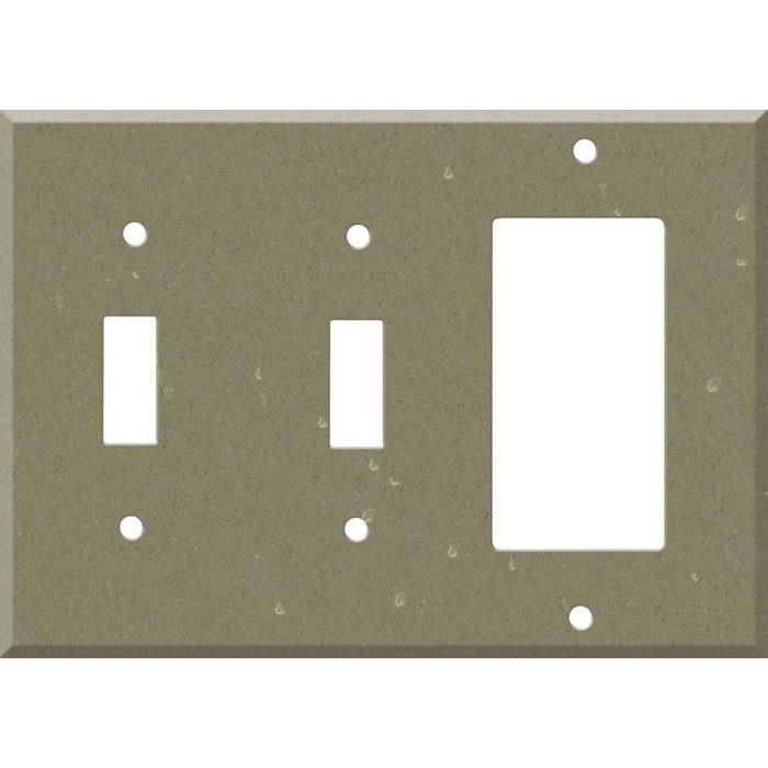 Corian Fawn 2-Toggle / 1-GFI Rocker - Combo Switch Covers