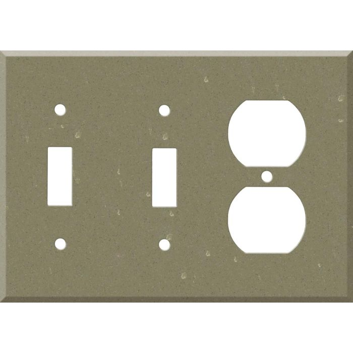 Corian Fawn 2-Toggle / 1-Duplex Outlet - Combination Wall Plates