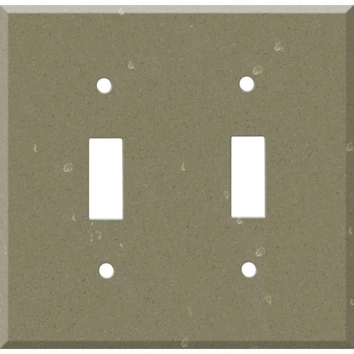Corian Fawn 2 Toggle Switch Plates