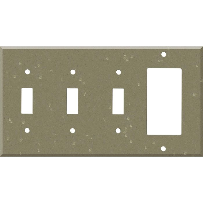 Corian Fawn 3-Toggle / 1-Decorator / Rocker - Combination Wall Plates
