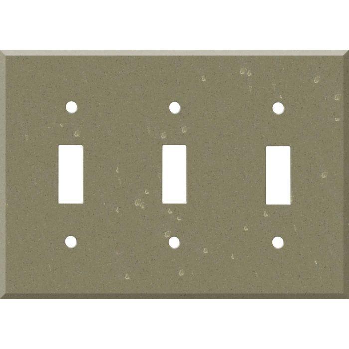 Corian Fawn 3 - Toggle Switch Plates