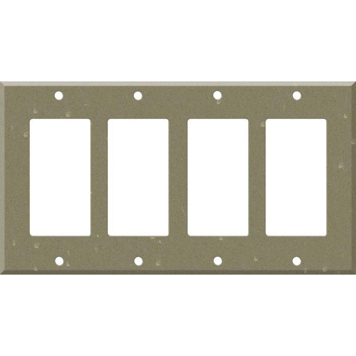 Corian Fawn 4 Rocker GFCI Decorator Switch Plates