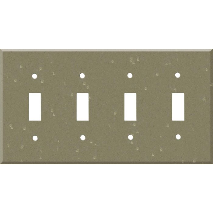 Corian Fawn Quad 4 Toggle Light Switch Covers