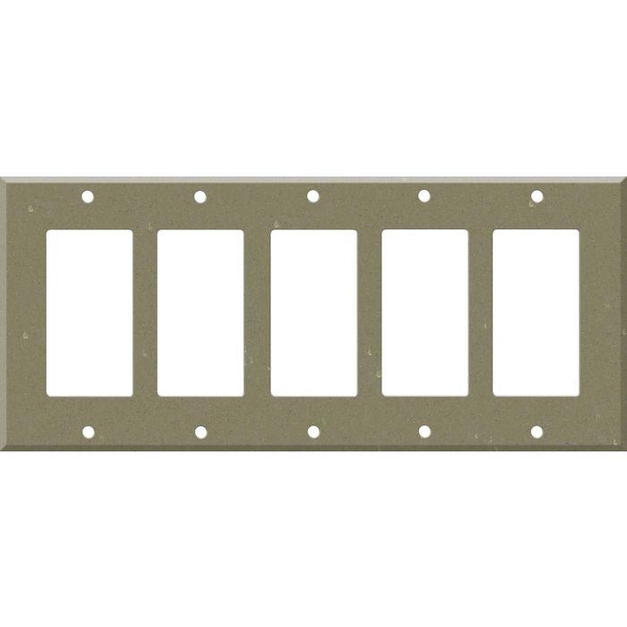 Corian Fawn 5 GFCI Rocker Decora Switch Covers
