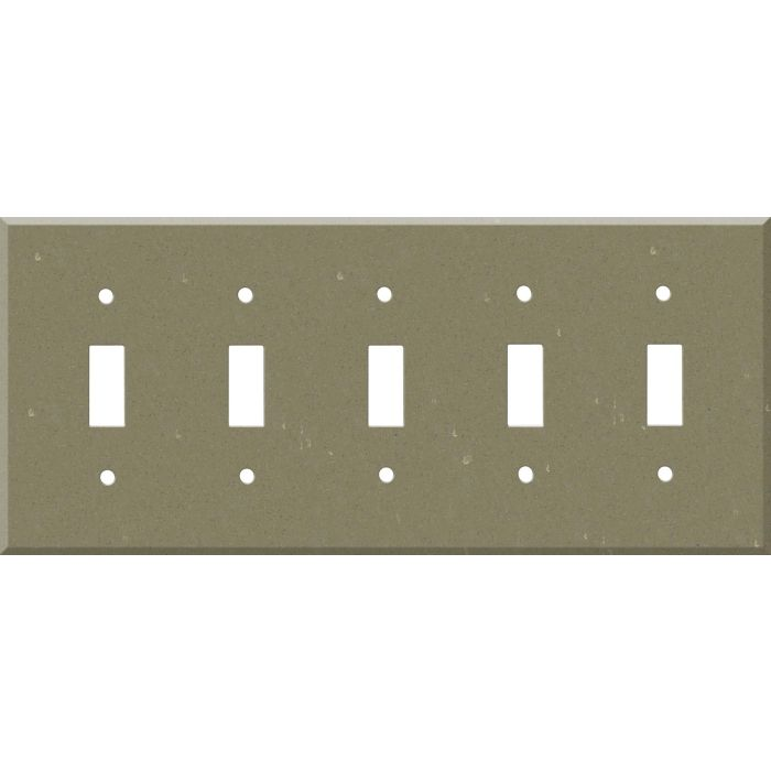 Corian Fawn 5 Toggle Light Switch Covers