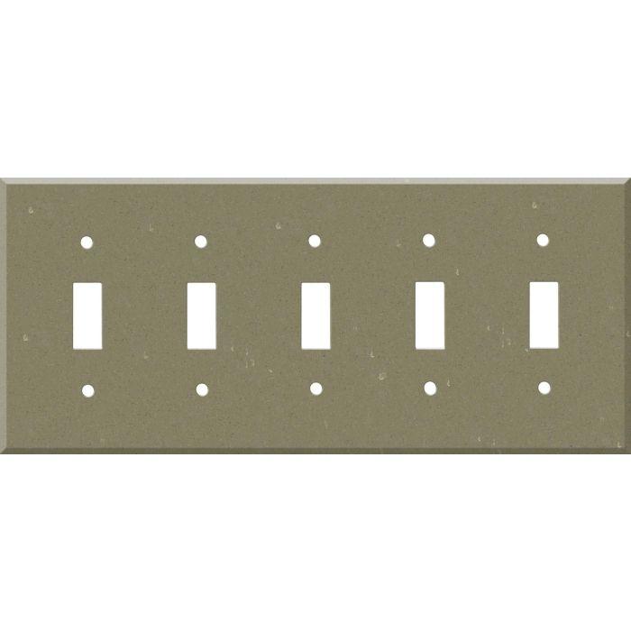 Corian Fawn 5 Toggle Wall Switch Plates