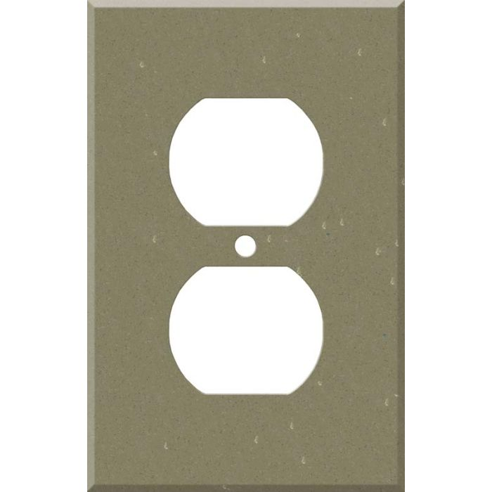 Corian Fawn 1 - Gang Duplex Outlet Cover Wall Plate