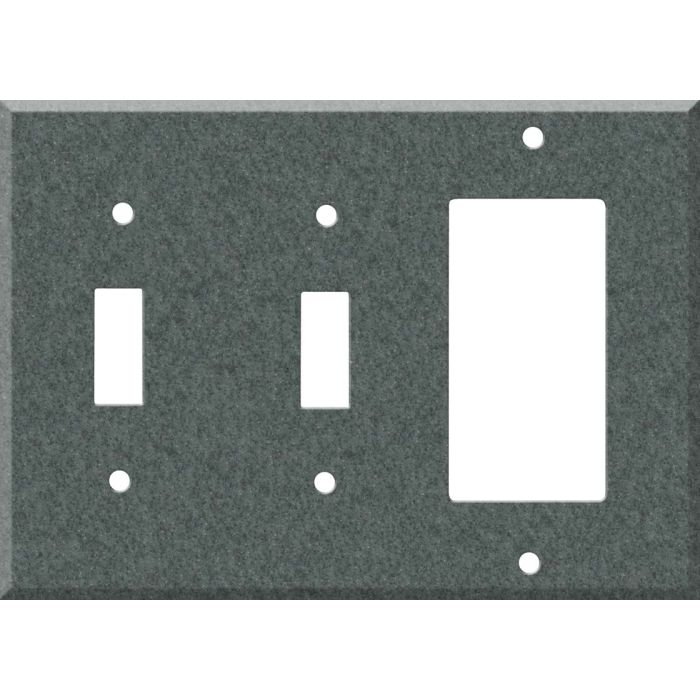 Corian Flint Double 2 Toggle / 1 GFCI Rocker Combo Switchplates