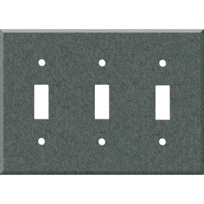 Corian Flint Triple 3 Toggle Light Switch Covers