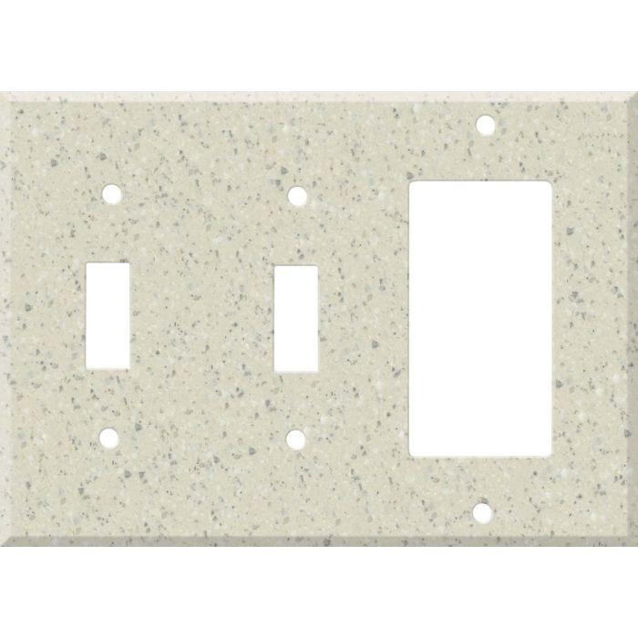 Corian Fossil Double 2 Toggle / 1 GFCI Rocker Combo Switchplates