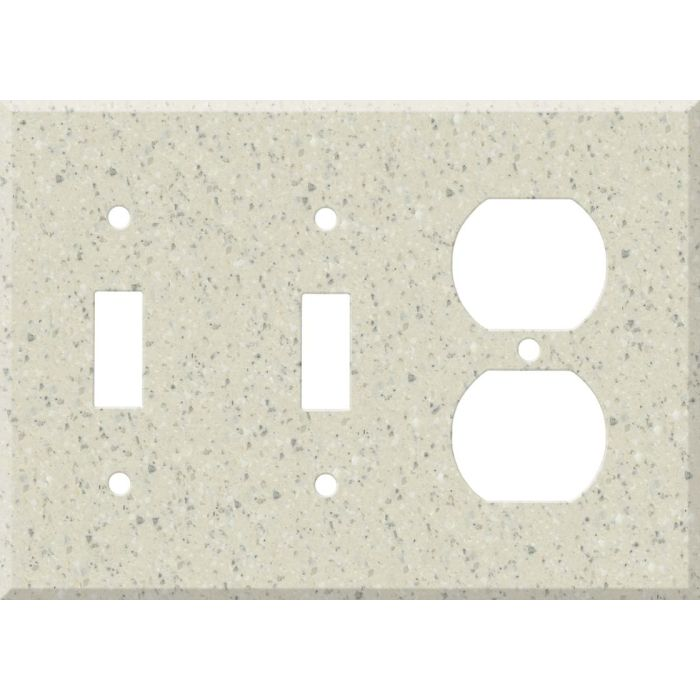 Corian Fossil Double 2 Toggle / Outlet Combination Wall Plates