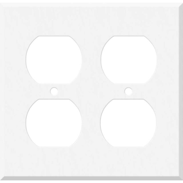 Corian Glacier White 2 Gang Duplex Outlet Wall Plate Cover