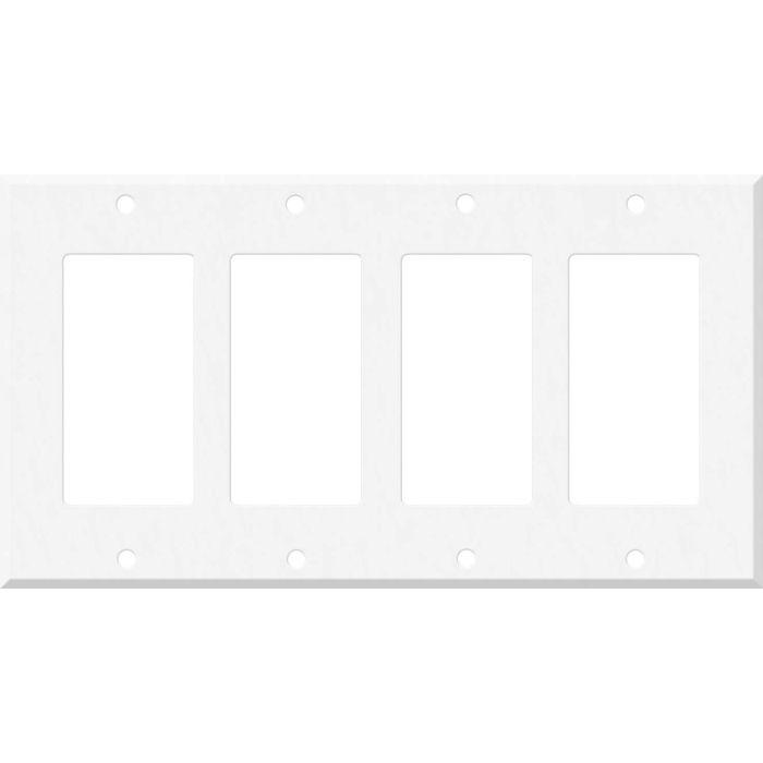 Corian Glacier White 4 Rocker GFCI Decorator Switch Plates