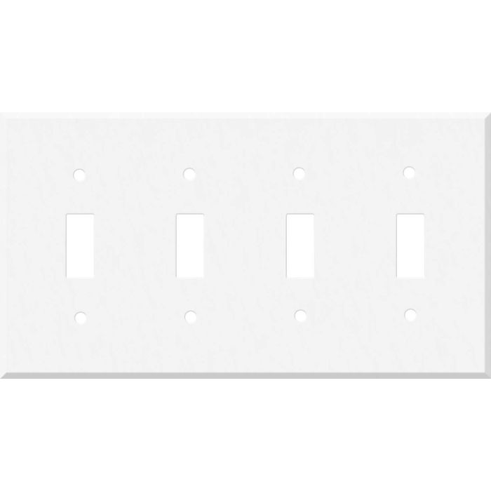 Corian Glacier White 4 - Toggle Light Switch Covers & Wall Plates
