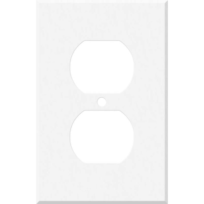 Corian Glacier White 1 - Gang Duplex Outlet Cover Wall Plate