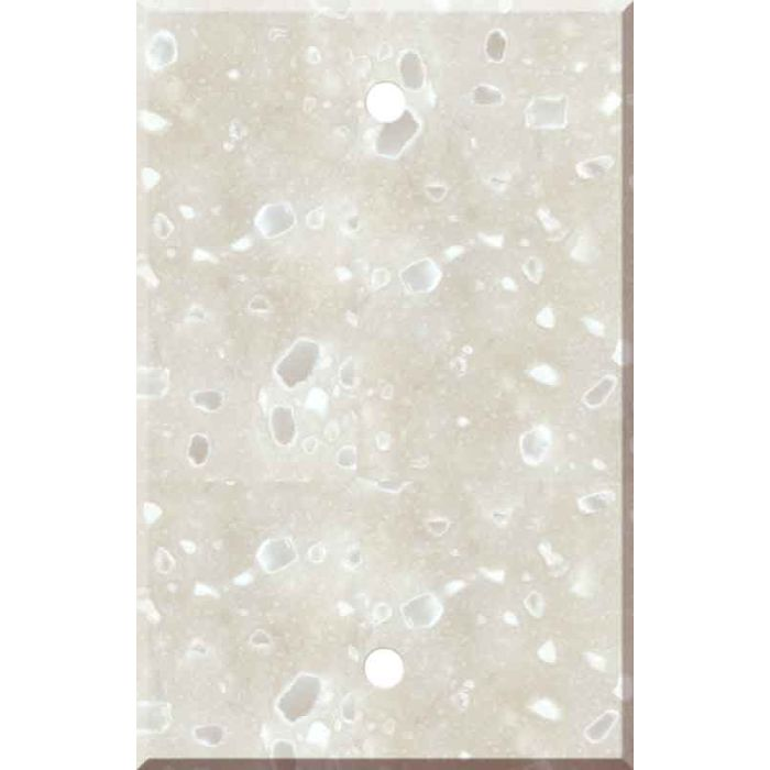 Corian Hazelnut 1 Gang Blank Wall Plates
