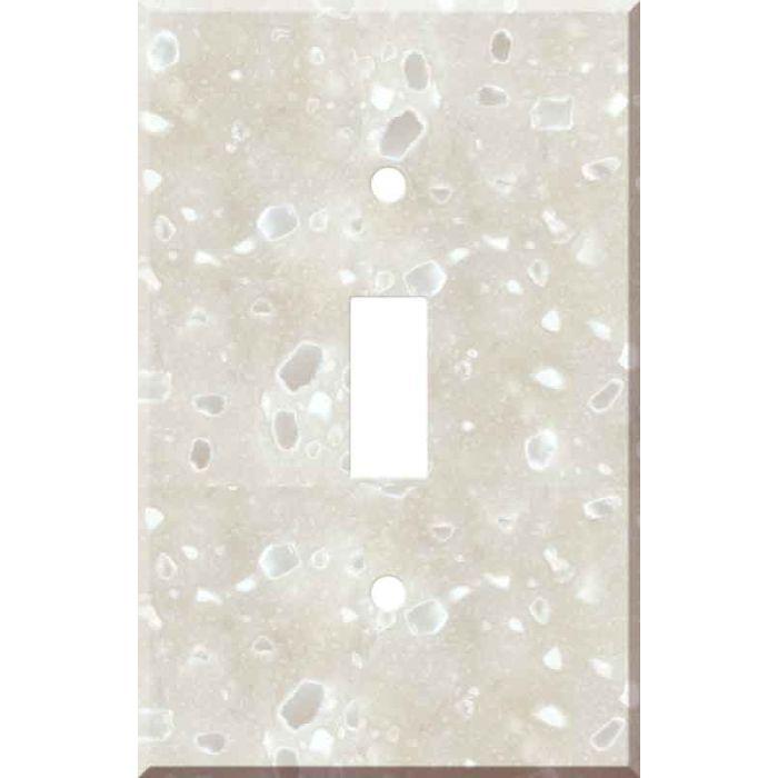 Corian Hazelnut 1 Toggle Light Switch Cover