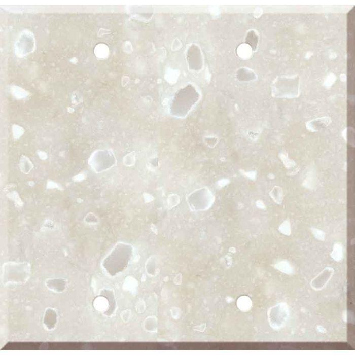 Corian Hazelnut 2 Double Blank Wall Plates