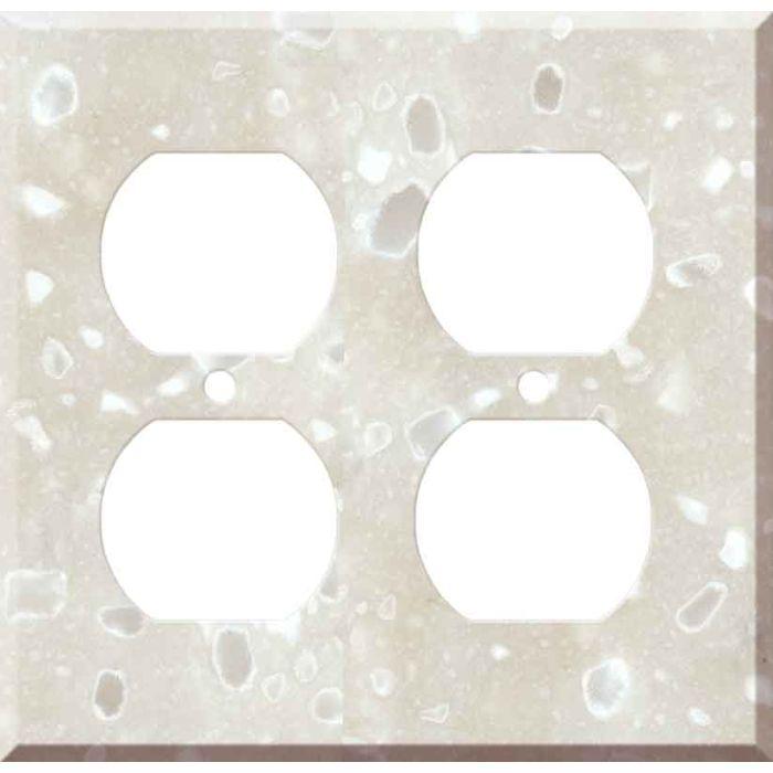 Corian Hazelnut 2 Gang Duplex Outlet Wall Plate Cover